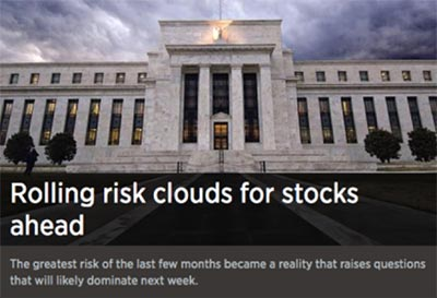 Rolling Risk Clouds for stocks ahead